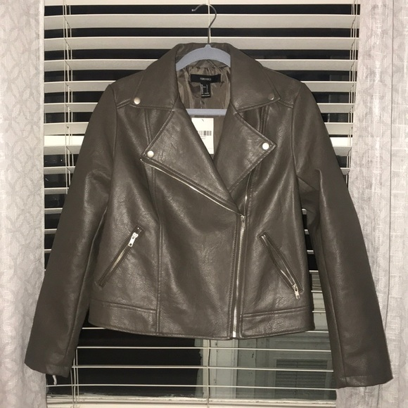Forever 21 Jackets & Blazers - Forever 21 Gray Leather Jacket